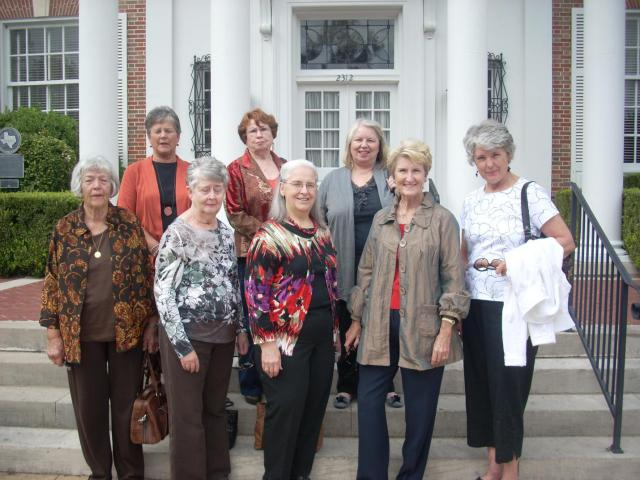 San Gabriel Woman's Club Members on the steps of the Texas Federated Women's Club Mansion in Austin.